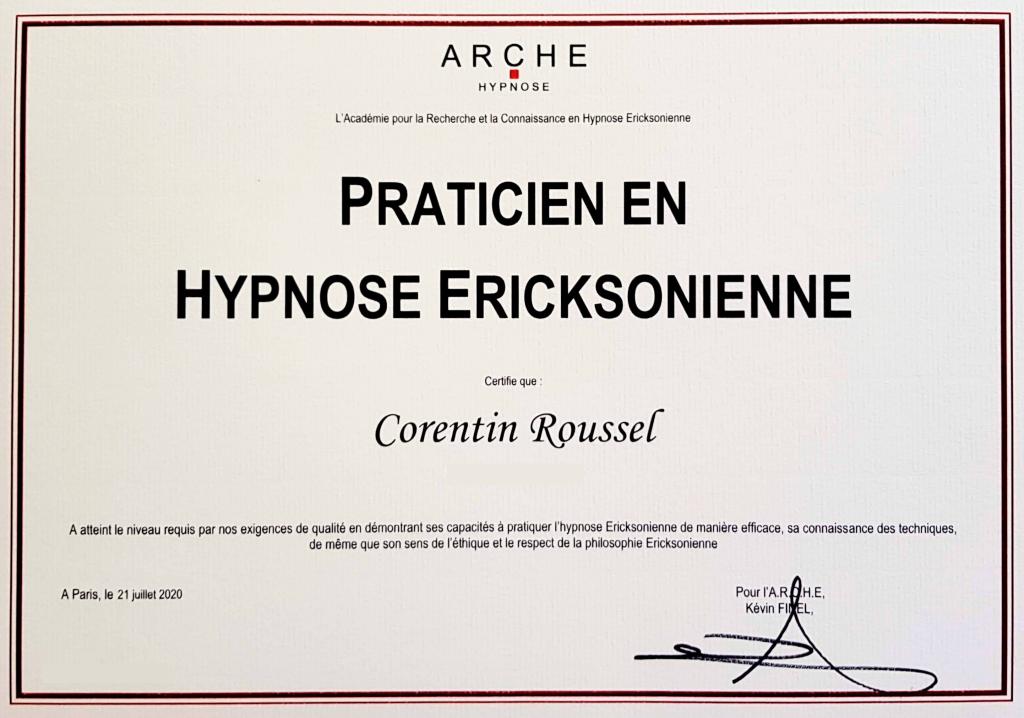 Certificat praticien en hypnose ARCHE